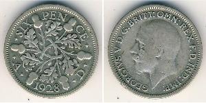 6 Penny United Kingdom (1707 - ) Silver