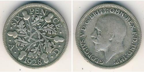 6 Penny United Kingdom (1707 - ) Silver
