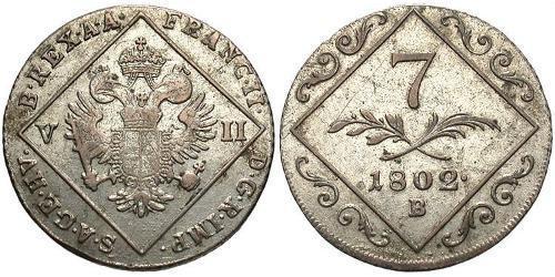 7 Kreuzer Holy Roman Empire (962-1806) Billon Francis II, Holy Roman Emperor (1768 - 1835)