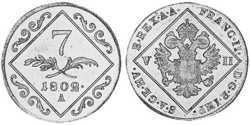 7 Kreuzer Austrian Empire (1804-1867) Silver