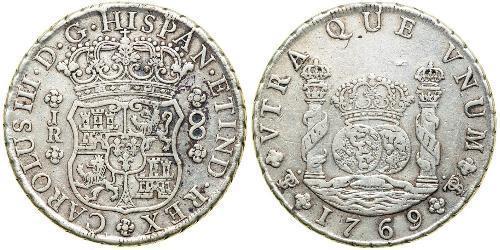 8 Реал Боливия / Вице-королевство Перу (1542 - 1824) Серебро Карл III король Испании (1716 -1788)