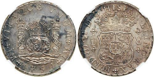 8 Реал Перу / Іспанські Колонії Срібло
