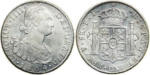 8 Реал Ріо-де-ла-Плата (віце-королівство) (1776 - 1814) / Болівія Срібло Карл IV король Іспанії  (1748-1819)