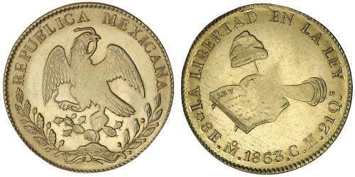 8 Escudo Second Federal Republic of Mexico (1846 - 1863) 金