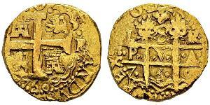 8 Escudo Peru Gold Philip V of Spain(1683-1746)