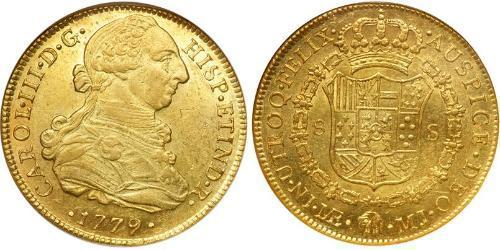 8 Escudo Peru Gold Charles III of Spain (1716 -1788)