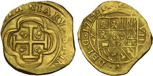 8 Escudo Spanish Mexico  / Kingdom of New Spain (1519 - 1821) Gold
