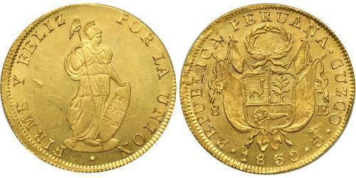 8 Escudo Pérou Or