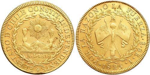 8 Escudo Cile Oro