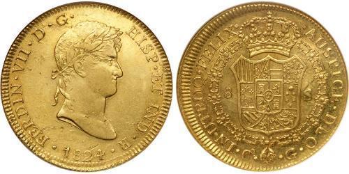 8 Escudo Perú Oro Fernando VII de España (1784-1833)