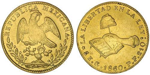 8 Escudo Second Federal Republic of Mexico (1846 - 1863) Oro