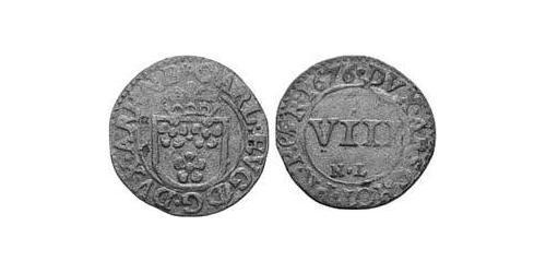 8 Heller County of Arenberg (1549 - 1810) Silver Charles Eugene, 2nd Duke of Arenberg (1633–1681)