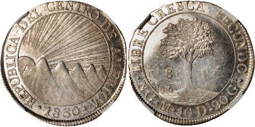 8 Real 危地马拉 / 中美洲联邦共和国 (1823 - 1838) 銀