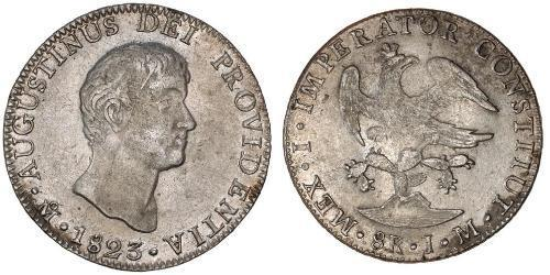 8 Real First Mexican Empire (1821 - 1823) Argent