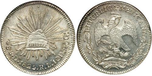 8 Real Second Federal Republic of Mexico (1846 - 1863) Argent