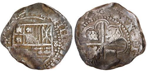 8 Real Spanish Colonies / Spanien Argent Charles IV d
