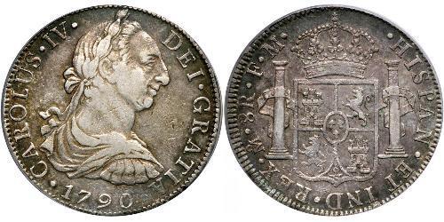 8 Real Vizekönigreich Neuspanien (1519 - 1821) Silber Karl IV (1748-1819)