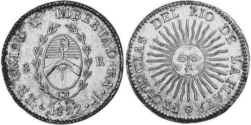 8 Real United Provinces of the Río de la Plata (1810 -1831) Silver