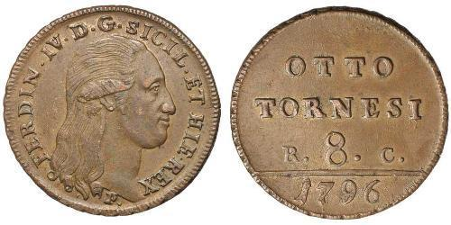 8 Tornesi Italian city-states Copper