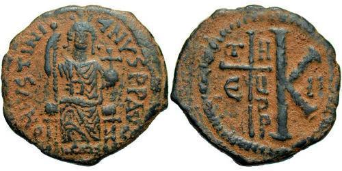 Half Follis Byzantine Empire (330-1453) Bronze Justinian I (482-565)