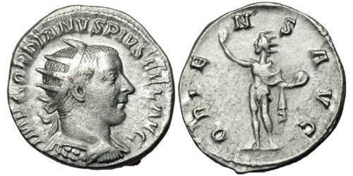 Антонініан Римська імперія (27BC-395) Срібло Гордіан III(225-244)