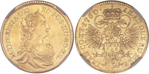 Дукат Княжество Трансильвания (1571-1711) / Священная Римская империя (962-1806) Золото Maria Theresa of Austria (1717 - 1780)