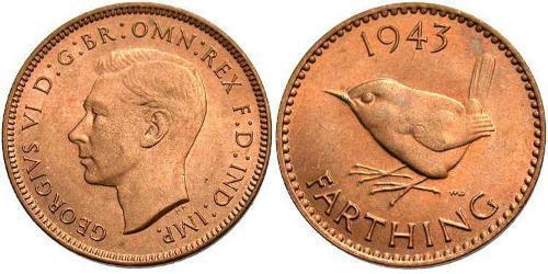 Фартинг Великобритания (1922-) Бронза Георг VI (1895-1952)