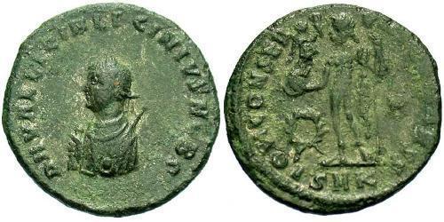 AE3 / 1 Фоллис Римская империя (27BC-395) Бронза Лициний II (315-326)