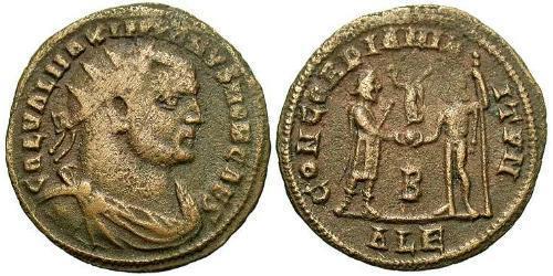 AE_ Roman Empire (27BC-395) Bronze Galerius Maximianus (260-311)
