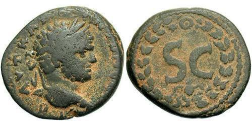 AE_ Roman Empire (27BC-395) Bronze Caracalla (188-217)