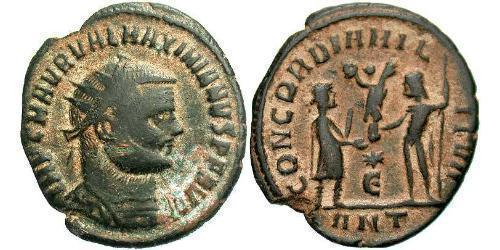 AE_ Roman Empire (27BC-395) Bronze Maximianus (250-310)