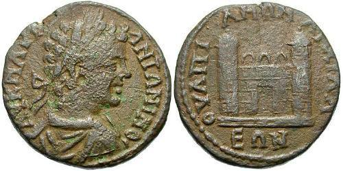 AE_ Roman Empire (27BC-395) Bronze Caracalla (188-217)