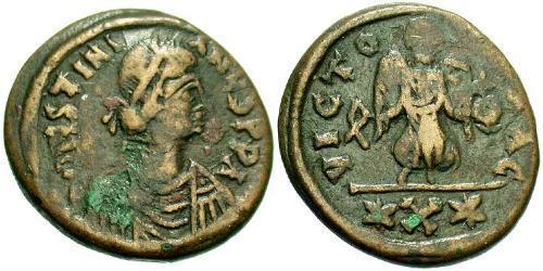 Decanummium Byzantine Empire (330-1453) Bronze Justinian I (482-565)