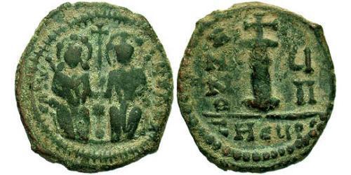 Decanummium Byzantine Empire (330-1453) Bronze Justin II (520-578)