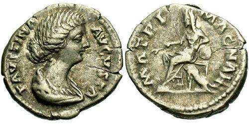 Denarius Roman Empire (27BC-395) Silver Faustina II (130-175)