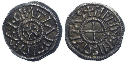 Dinar Kingdom of France (843-1791) Silver Charles the Bald (823-877)