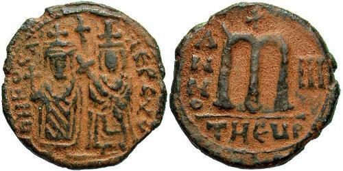 Follis Byzantine Empire (330-1453) Bronze Phocas(?-610)