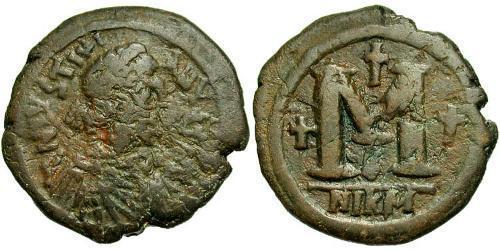 Follis Byzantine Empire (330-1453) Bronze Justinian I (482-565)