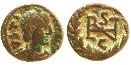 Minimus Byzantine Empire (330-1453) Bronze Justinian I (482-565)