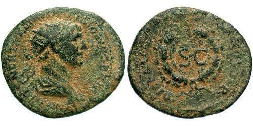 Semissis Roman Empire (27BC-395) Orichalcum Trajan (53-117)