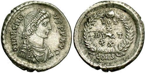 Siliqua Byzantine Empire (330-1453) Silver Arcadius (377-408)