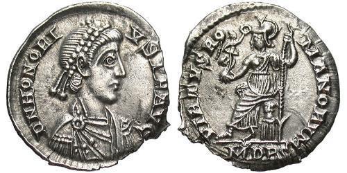 Siliqua Western Roman Empire (285-476) Silver Honorius  (384-423)