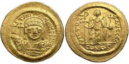 Solidus Byzantine Empire (330-1453) Gold Justinian I (482-565)