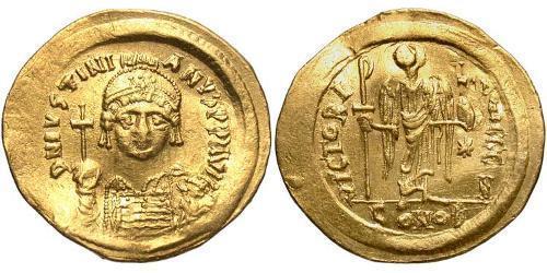 Solidus Byzantine Empire (330-1453) Gold Justinian I (482-565)