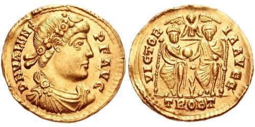 Solidus Byzantine Empire (330-1453) Gold Valens (328-378)