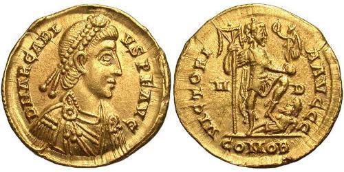 Solidus Byzantine Empire (330-1453) Gold Arcadius (377-408)
