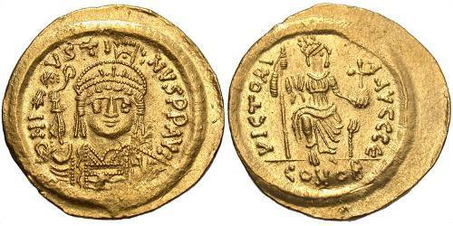 Solidus Byzantine Empire (330-1453) Gold Justin II (520-578)