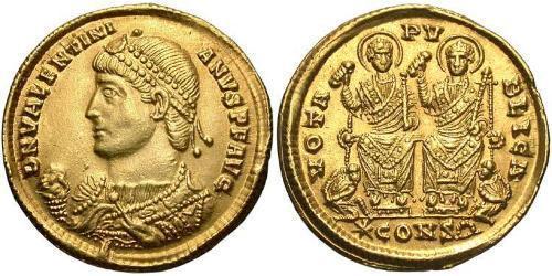 Solidus Roman Empire (27BC-395) Gold Valentinian I  (321-375)
