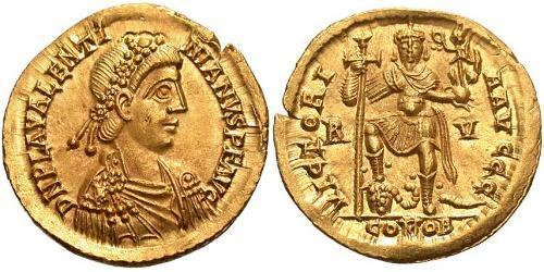 Solidus Western Roman Empire (285-476) Gold Valentinian III (419-455)