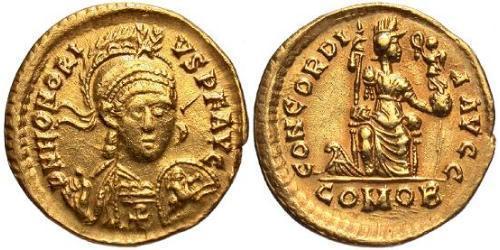 Solidus Western Roman Empire (285-476) Gold Honorius  (384-423)